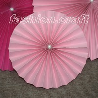 5pcs/lot 16 inch Decorative foldable Tissue Paper fan Flower Craft Wedding Garland Modern Party Hanging Decoration