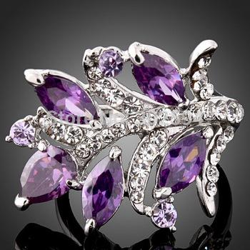 горячие оптовой аметист ретро милый прекрасный стерлингового серебра 925 ёенщины обручальное кольцо высокое качество мода классические украшения