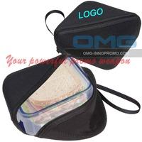 Free Shipping Logo Printing Customized Neoprene Sandwich Box, Lunch Box ,Sandwich Wraper Sleeve