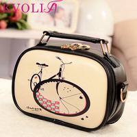 Hot fashion print women handbag shoulder Bags messenger bags cartoon casual bag new 2014 HL2021