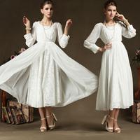 An Exclusive Design High-grade Dress Party Evening Elegant Chiffon Dress For Women Lace White Two-piece Dress 86035#