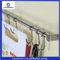 Multi-function 304 stainless steel kitchen & bathroom accessories hanger towel bar tableware cloth hooks storage shelf - 5 hooks