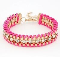 YXSP4523     2014 new fashion   Diamond temperament metal preparation    Bracelets for women