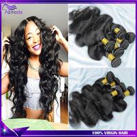 Malaysian virgin hair Rosa hair products Malaysian body wave 3/4pcs lot 5A Unprocessed human hair weaves Ali moda hair Very soft