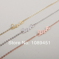 2014 New Arrival Fashion LOVE Bracelet in Silver/Gold/Rose Gold 30pcs/lot Best Gift Free Shipping Drop Shipping#04