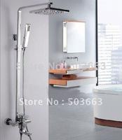 """Great Chrome Bathroom Rain Shower Faucet CM0575 8"""" Shower Head Faucet Set"""