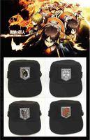 4pcs Anime Cosplay Props Attack on Titan Shingeki no Kyojin Giant  Costume training Corp Freedom wing/Rose/Horse/Sword Cap Hat