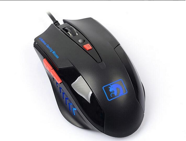 Mamba Generation 1 Enhanced Version M-398 Cool Blue Light black Game Mouse(China (Mainland))