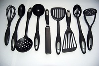 CT007H 9pcs  Integrated  Nylon Utensils Small Slotted Spoonr Turners Fork/Spatula Cooking BBQ Server Utensils Soup Ladle