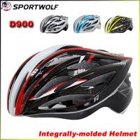 2014 SPORTWOLF D900 Road Bike Bicycle Cycling Helmet Integrally-molded EPS Material Ultralight Mountain Bike Helmet 33 Air Vents