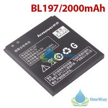 oneway Original Lenovo A820 A820T S720 Smartphone Lithium Battery 2000mAh BL197 3.7V High Quality