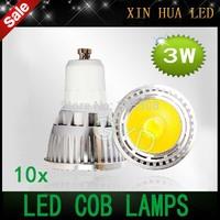 10pcs  High Bright 3w  LED COB SpotLight Bulb GU10 GU 10 Cool White/Warm White AC85-265V lamp Lighting Epistar free shipping