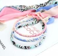 Ultra long chiffon bandeaus headband bow hair bands hair pin lacing paragraph of hair band