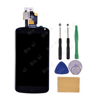 100% Test For LG Google Nexus 4 E960 LCD Display Touch Screen with Digitizer Assembly + Free tools Replacement