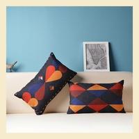 Heart-shaped diamond Cotton Linen Pillow Case Ikea Nap Pillow Creative Lumbar Pad Fashion Cushion Covers 30*50CM A6219 A.A
