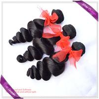 Brazilian Loose Wave Virgin Hair Natural Black Color Hair Bundles Brazilian Weaves Cheap Human Hair Extension 4pcs Lot No Tangle