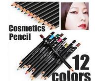 12 Colors/set Eye Liner Pencil Waterproof Make up Eyebrow Pen Cosmetics Sticker 50-29