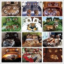 Nuevo lujo juego de cama king size sistema del lecho 3d tiger animal print ropa de cama edredón cubierta queen tamaño completo duvet edredón cubre(China (Mainland))