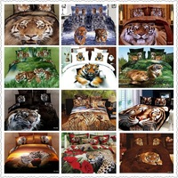new luxury bedding set king size 3d bedding set tiger animal print bedclothes comforter cover full queen size duvet quilt covers