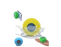 Blue green red yellow Waterproof Bluetooth Mini Shower Speaker Car Handsfree Mic Speaker HOT for iPhone iPad Samsung