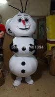 Wholesale - -2014 Custom made Cartoon Character Adult Frozen Olaf Snowman Mascot Fancy Dress Costume, Free shipping