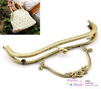 "1PC Antique Bronze Purse Bag Metal Arch Frame Kiss Clasp Lock Handle 21x15cm(8 2/8""x5 7/8"") (B21736)"