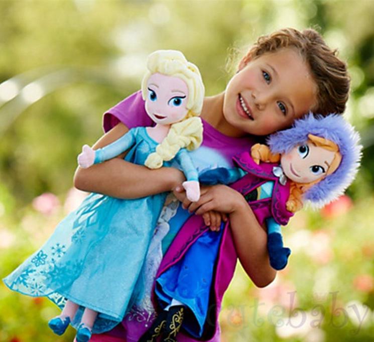 50cm Frozen Doll Frozen Plush Toys 2014 New Princess Elsa Anna soft stuffer Brinquedos for Baby Kids Girls Children(China (Mainland))