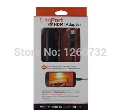 Slimport to HDMI Adapter Cable for LG Nexus 4 Optimus G pro / Fujitsu ASUS Tablet Convertor ,100pcs(China (Mainland))