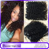 Sexy Deep Curly Peruvian Virgin Hair 3/4pcs Remy human hair weave Ms Lula Modern Show Hair Peruvian deep wave Curly virgin hair