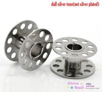"30PCs Silver Tone Sewing Machine Bobbin 21mmx11mm( 7/8""x 3/8"") (B19422)"