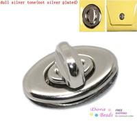 Purse Twist Turn Lock Silver Tone 35x33mm 34x20mm 35x20mm 25x31mm,10 Sets (B22671)
