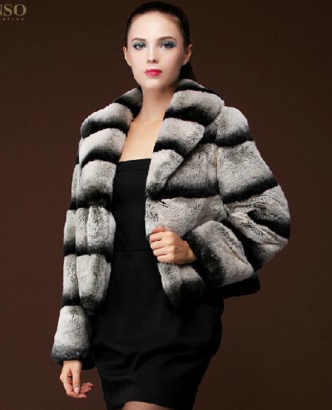 Chinchilla Rabbit Fur Coat Chinchilla Fur Coat Women