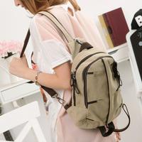 Casual canvas backpack school bag double-shoulder women's handbag small fresh preppy style female 2014