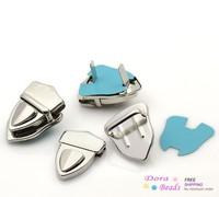 Purse Snap Clasps/ Closure for Purse Handbag/ Bag Silver Tone 4.1x3cm,10 Sets (B22561)