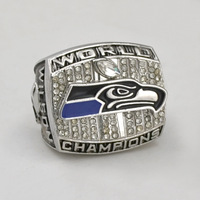 Free shipping! replica 2013 Seattle Seahawks Championship Ring WILSON as fan party gift sport ring