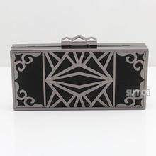 cheap black leather clutch