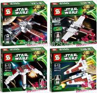 New Star Wars Series Clone soldiers Fighter Minifigures Model Building Blocks Sets Figure Bricks Toys lego compatible 4pcs/lot