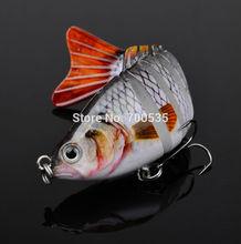"1PC New Swimbait Fishing bait 2014 Proberos 7 Sections Fishing Lure 10cm/4"" 0.55oz/15.5g 6# Good Quality Hook Fishing Tackle(China (Mainland))"
