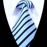 high quality Classic Striped 960-pin Men Jacquard Woven Gentlemen Necktie Tie 100% Silk T855