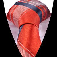 high quality Fashion New Jacquard Woven Check Style Brown Silk Men Gentlemen Tie Necktie