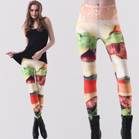 2014 new spring models vegetable  printing   women outer wear pants feet american apparel fitness women legging leggings