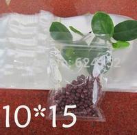 10x15cm Zip Lock Packing Bag Transparent PET /PE laminated Resealable Bags Thickness 0.15mm 100pcs/lot zipper bags food packing