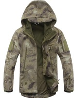 Shark skin soft shell lurkers 4,0 v outdoor tactical military jacket waterproof sports Fleece Camouflage hunting clothes