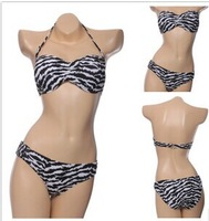 New explosion models women bikini swimsuit sexy zebra prop gather bikini swimsuit Free Shipping DST-232