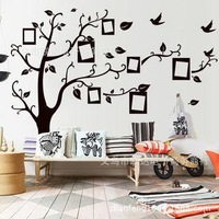 New arrive 2014 Black Family Photo Frame Record Forever Memory Original PVC Creative Wall Decals