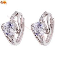 50% off discount Jewellery  Cubic Zircon  24GDP hoop Earrings for gift  1pair