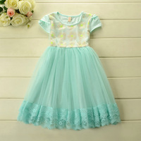 2014 Summer New arrival korean style dresses  for girl princess lace party dresses Odell Cotton 5pcs/lot Wholesale wx1032