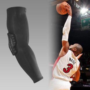 PRO sports armband honeycomb crash protection guard forearm arm extended elbow brace basketball slip sleeve(China (Mainland))