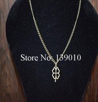 Free Shipping!6PCS/LOT!Antique Retro Braided Clover Charm Chain Necklace Pendant Charm New Fashion Women Vintage Jewelry WJ-015