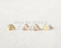 Mini earrings simple  imitation diamond innovative items sh stud earrings for women